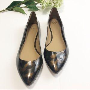 NWOT Ann Taylor Abbie Leopard Patent Leather Flats